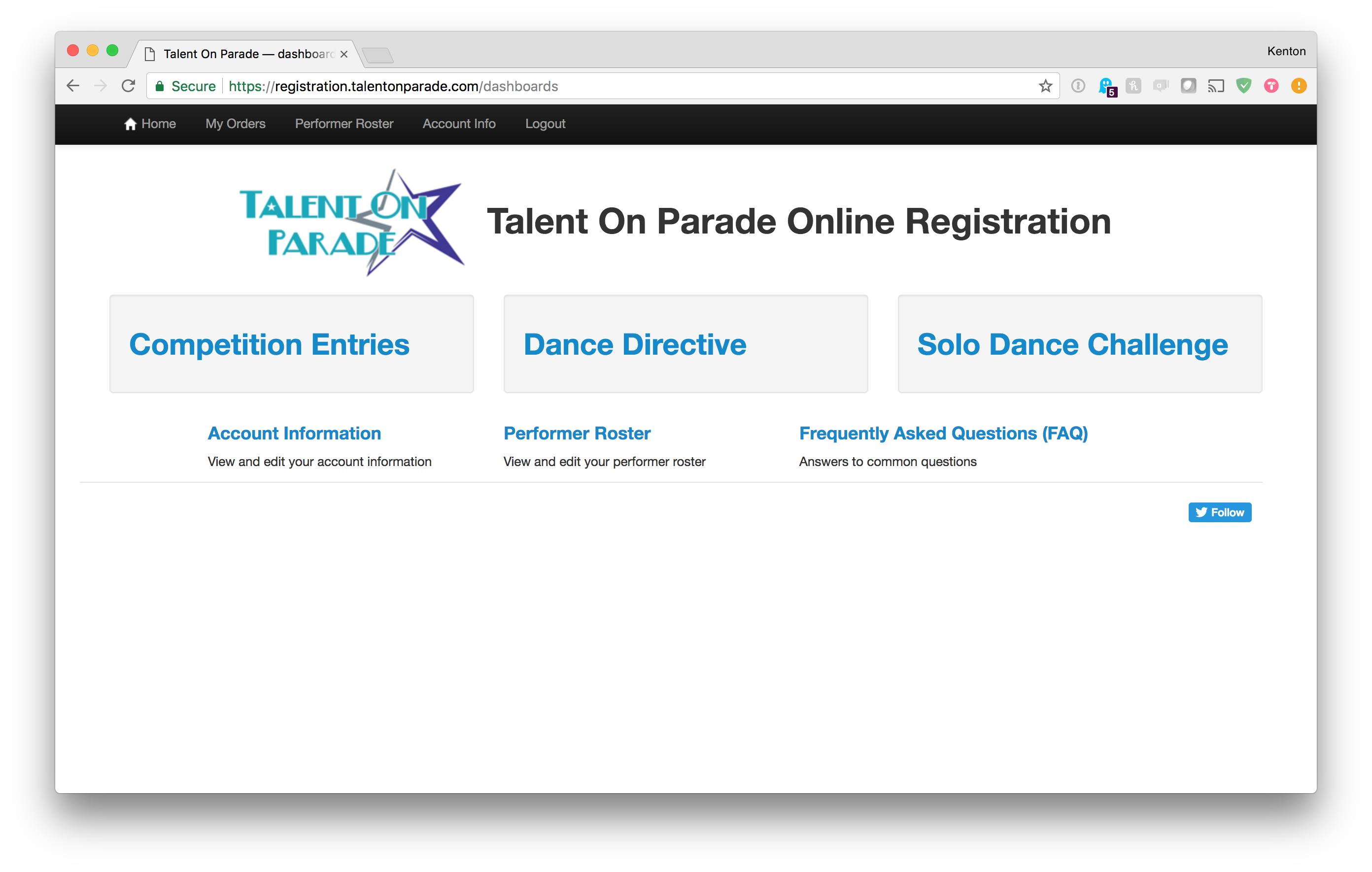 Talent On Parade Administration System